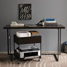 West Elm Flat-Bar Printer Caddy - $199.00: A rolling printer station is  particularly convenient if there are multiple people printing to one  machine, ...