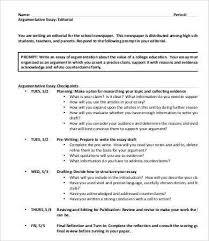 9 argumentative essay templates pdf