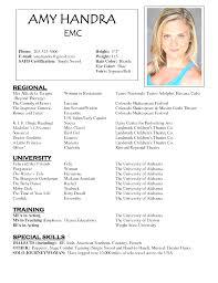 Talent Resume Template Amazing Acting Resume Samples Unitedijawstates