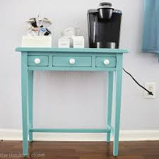 hot drinks station table makeover using annie sloan chalk paint in provence tutorial with step chalk paint furniture