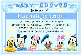 Baby Mickey Invitation Template By Shower Invitations Templates
