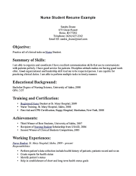 School Nurse Objectives And Goals For A Resume Simple Cover Letter