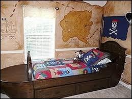 pirate ship kids bedroom dark color