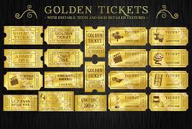raffle ticket photos graphics fonts themes templates golden tickets templates set