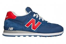 new balance shoes red and blue. new balance\u201c™s m574 is a shoe that has very nice 4-way color combination of blue, red, white and grey. balance shoes red blue e