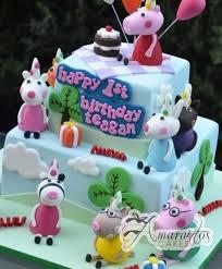 Two Tier Peppa Pig Cake Nc570 Amarantos Birthday Cakes Melbourne