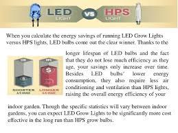 Power Consumption Led Grow Lights Vs Hps Light