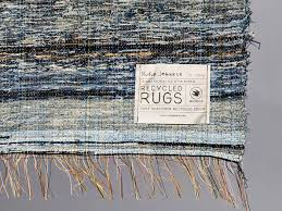 nu jeans post recycle rag rug shuttle loom indigo denim limited edition home decor
