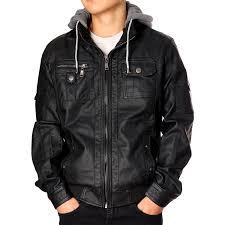 rnz premium designer men s faux leather jacket multiple styles 0
