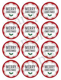 Printable Christmas Mason Jar Label Canning Jar Label Merry