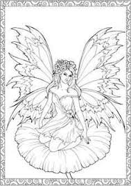 Free Printable Coloring Pages Fairies Adults Lovely Flower Fairy
