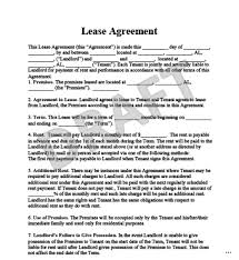 Residential Lease Agreement Template Efficient Printable California ...