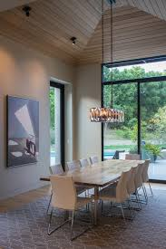 entryway design ideas dining room contemporary with table vaulted ceiling lighting