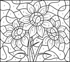 Sunflower Coloring Page Printables Apps For Kids Pages By Number