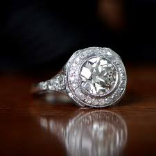 antique enement ring on surface