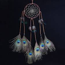 Dream Catcher Without Feathers Handmade Peacock Feather Dream Catcher Circular Net Wall Hanging 70