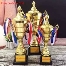 plastic trophy customize student general purpose gold plated match trophies and awards suitable for holiday gifts and souvenirs
