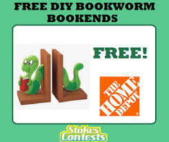image free diy bookworm bookend home depot