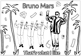 Small Picture Bruno mars that s what i like Unclassifiable Coloring pages