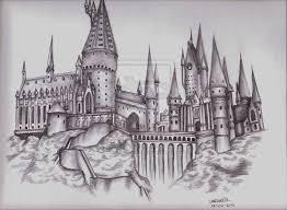 Hogwarts Harry Potter Disegni A Matita Hogwarts E Harry Potter