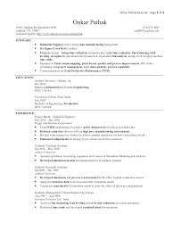 Industrial Engineer Resume New Section Download Industrial Engineer ...