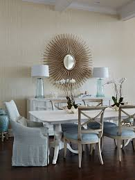 dining room coastal dining room this chic dining room features hickory white side chairs