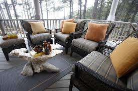 covered porch furniture. Cozy Outdoor Seating Area On Covered Porch Furniture R