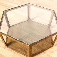 39.5 wide x 17.5 deep x 15.75 inches high; Mid Century Glass Top Octagon Coffee Table Loveseat Online Auctions Los Angeles