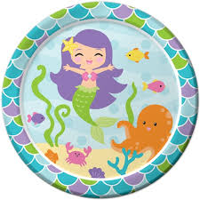 Mermaid Lunch Plates (8)