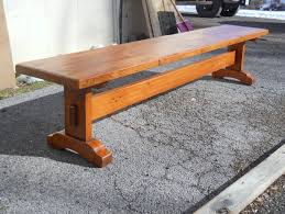 Trestle table with bench Outdoor Dining Thick Pine Henricus Trestle Bench Thestocktonmill Benches Antique Tables