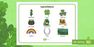 Another Word For Leprechaun Leprechaun Word Mat Roi St Patrick S Day Resources St