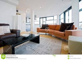 Orange Sofa Living Room Living Room With Orange Sofa Stock Image Image 8815301