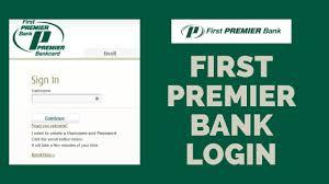 first premier bank login