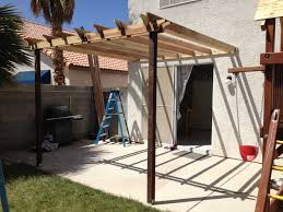 pergola attached directly to the house