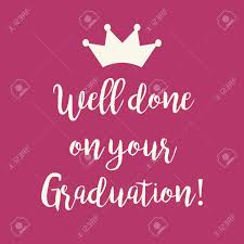 Cute Pink Well Done On Your Graduation Congratulations Greeting