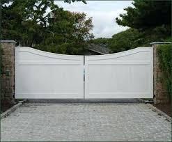 Vinyl Fence Driveway Gates Cellular Vinyl Universal Privacy Gate
