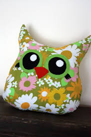 Owl Pillow Pattern Creative Idea Elegant Grey Homemade Pillow With Flower Pattern