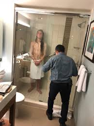 my buddy traveled across the country to visit me last weekend unfortunately he got stuck in his hotel shower for 3 hours shout out to julio for helping