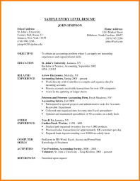 9 Entry Level Resume Examples Precis Format
