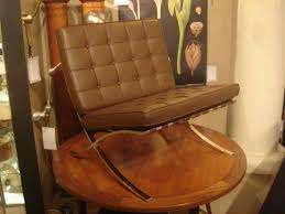 Barcelona Chair Style Pair Of Vintage Knoll Barcelona Chairs In New Brown Leather At 1stdibs