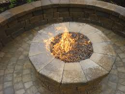 paver patio with gas fire pit. Paver Patio And Walls Contractor Natural Gas Firepit Fire Pit Glass Rocks With