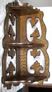 corner shelf unit solid oak 3 shelves vintage large 1 of 1 see more