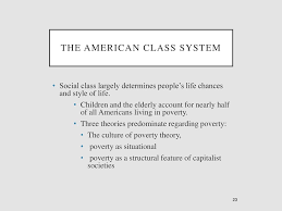 social stratification inequality and poverty ppt  23 the american class system