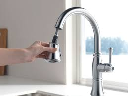 Delta Kitchen Faucets Warranty Faucetcom 9197 Pn Dst In Polished Nickel By Delta