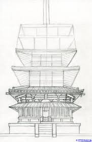 architecture building drawing. Brilliant Drawing How To Draw A Pagoda Japanese Pagoda Step 10 Throughout Architecture Building Drawing