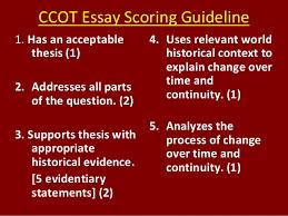ccot rubric  ccot essay