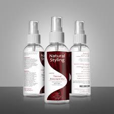 Spray Bottle Label Design Bold Conservative Hair Care Product Label Design For A