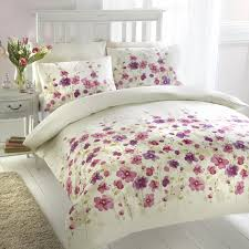 white duvet cover with purple flowers sweetgalas purple flower bed
