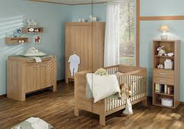 decorating ideas for baby room. Stylish Baby Nursery Crib With Drawer To Natural Parquet Floor Contemporary Wall Maple Wood Changing Tables Decorating Ideas For Room