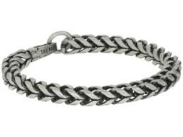 steve madden stainless steel 9 twisted curb chain bracelet silver mens jewelry bracelets link
